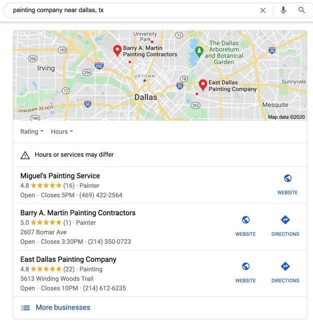 Local Google Map